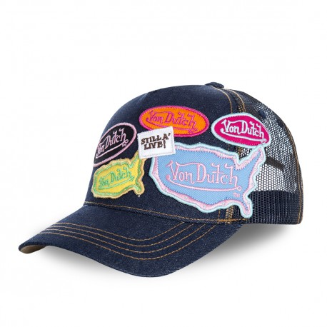 Casquette baseball femme filet Von Dutch Asia Bleu