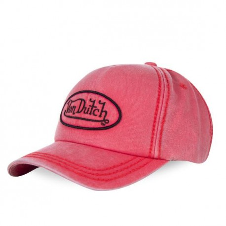 Casquette baseball Von Dutch Bob Rouge