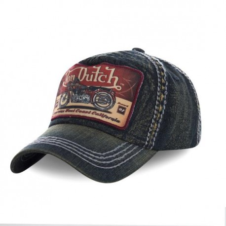 Casquette baseball homme Von Dutch Terry Gris