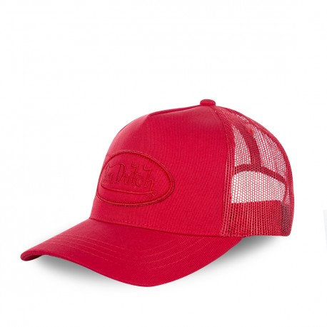 Casquette baseball femme, filet, BM Rouge