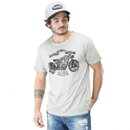 Tee shirt homme von dutch bright gris