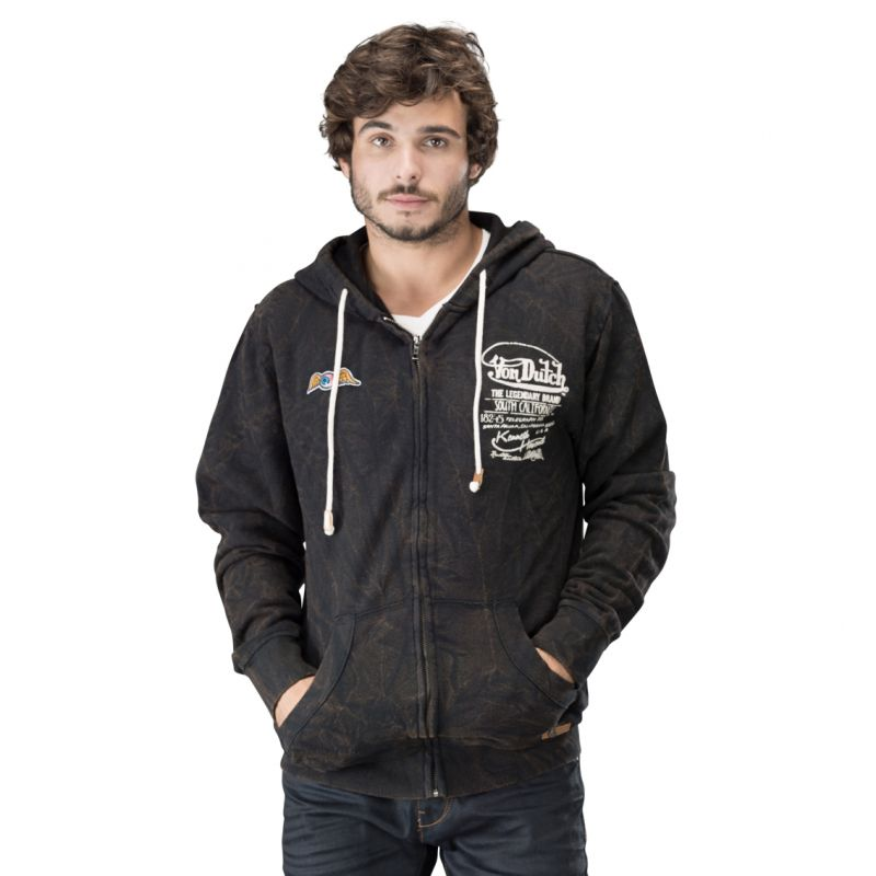 sweat zippe a capuche french terry