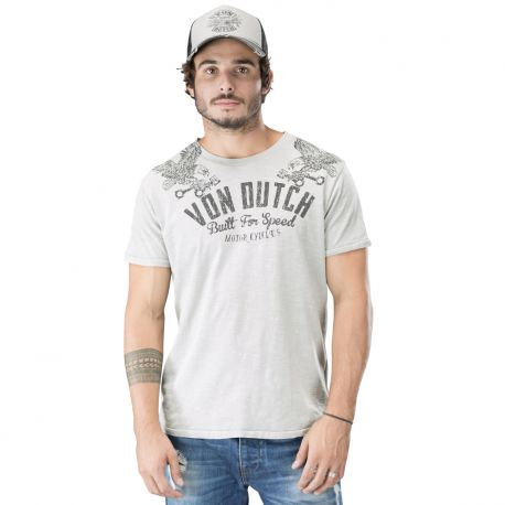 Tee shirt homme von dutch built gris