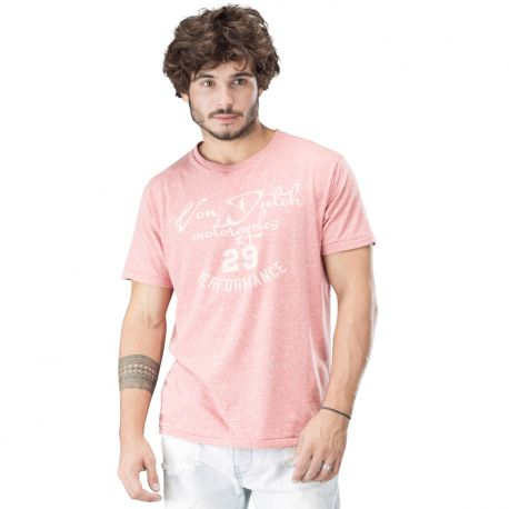 Tee shirt homme von dutch bailey rouge chine
