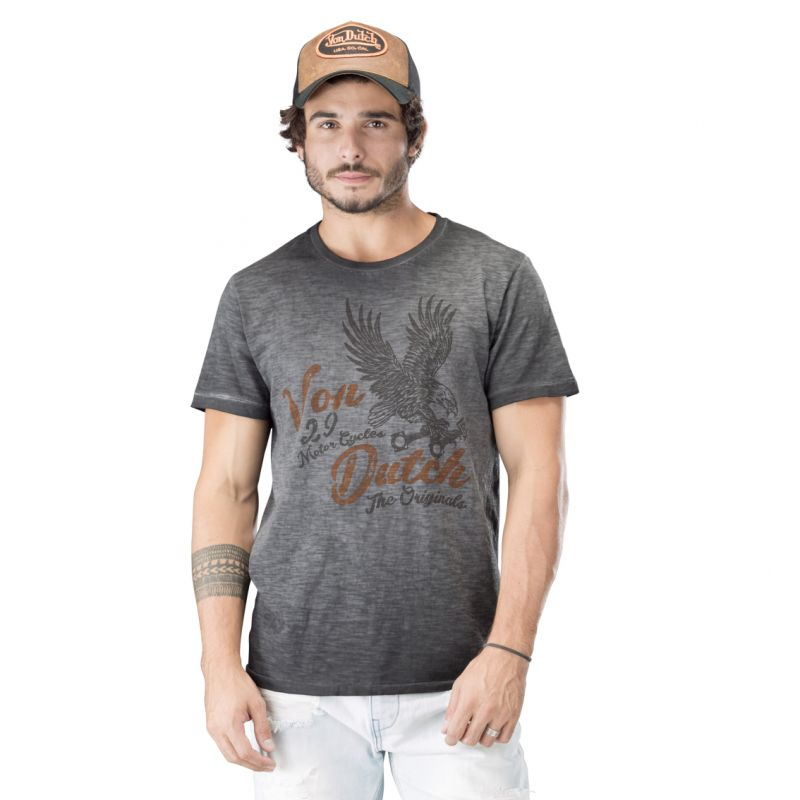 Tee shirt homme von dutch eagles gris