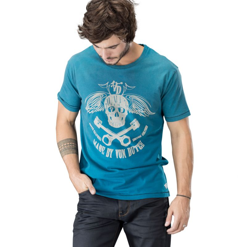 t shirts polos homme flying skull