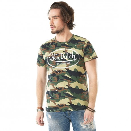 T-Shirt Homme Von Dutch Camouflage