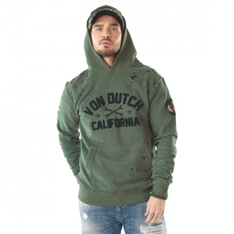 Sweat homme Von Dutch Owen Kaki