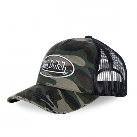 Casquette baseball homme filet Von Dutch Camouflage