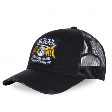 Casquette baseball homme filet Von Dutch Eyed Noir