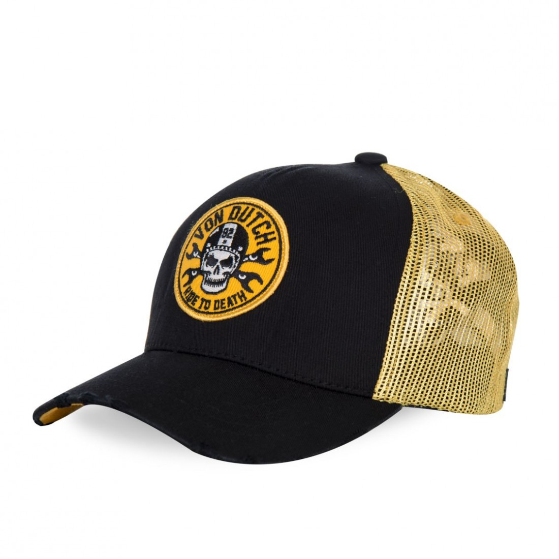 Casquette baseball homme filet Von Dutch Ride Noir