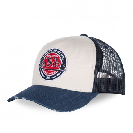 Casquette baseball homme filet Von Dutch Road Bleu