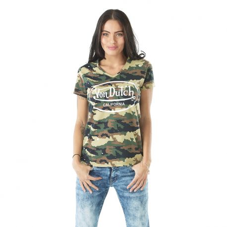 Tee-shirt femme Camouflage