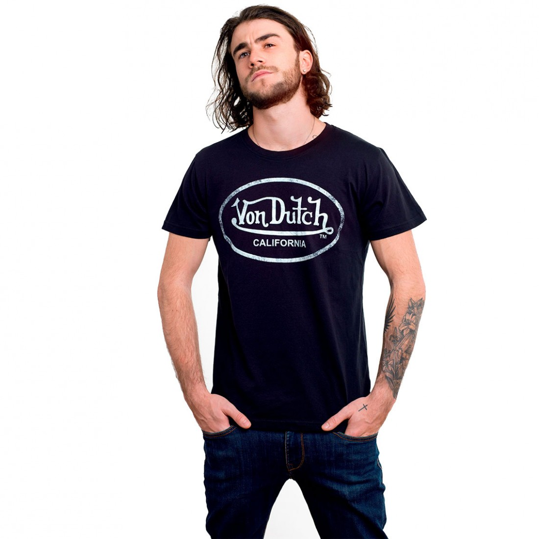Von Dutch Men's Black Aaron A T-Shirt