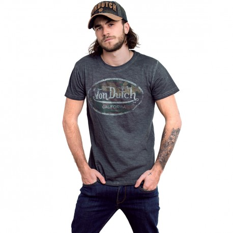 Von Dutch men's anthracite Aaron B t-shirt