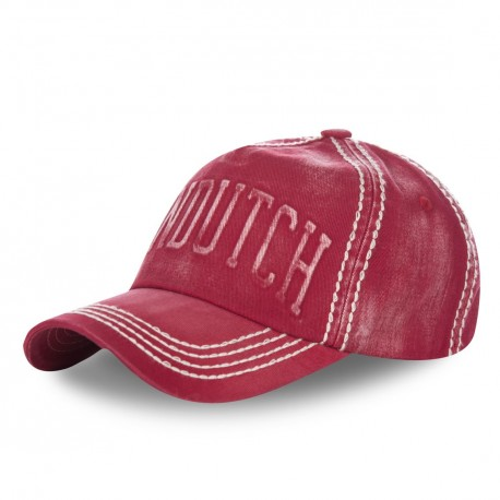 Casquette baseball Von Dutch Scot Rouge