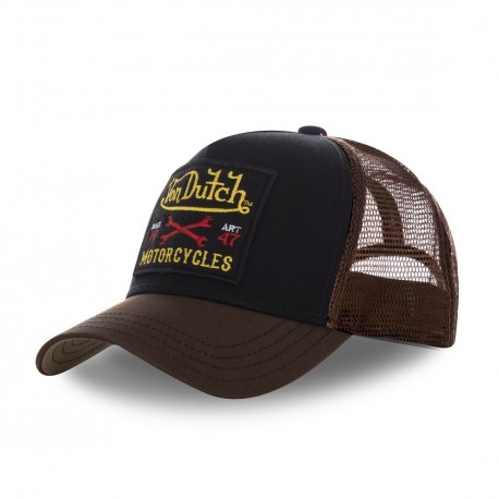 Casquette homme filet Von Dutch Square Motorcycles Marron