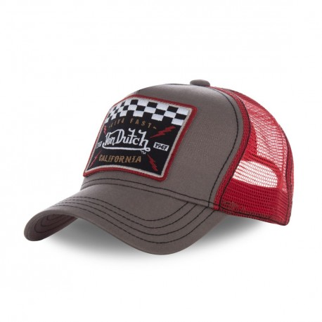Casquette filet Von Dutch Square Marron Clair