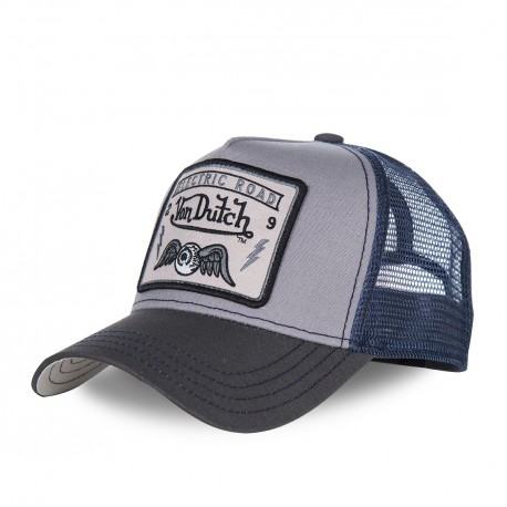 Casquette baseball homme VONDUTCH filet Square Flying Eye Bleu
