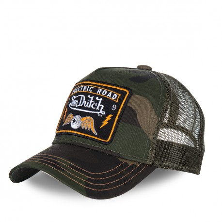 Casquette baseball homme VONDUTCH filet Square Flying Eye Camouflage