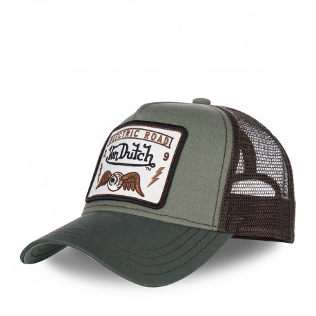Casquette baseball homme VONDUTCH filet Square Flying Eye Vert
