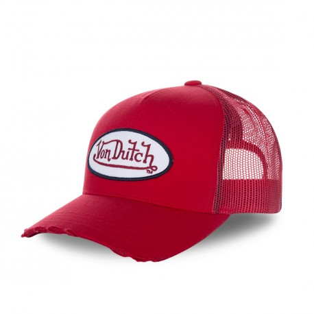 Casquette baseball Von Dutch filet Fresh Rouge