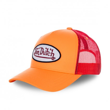 Casquette baseball Von Dutch filet Fresh Orange