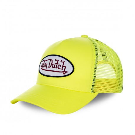 Casquette baseball Von Dutch filet Fresh Jaune