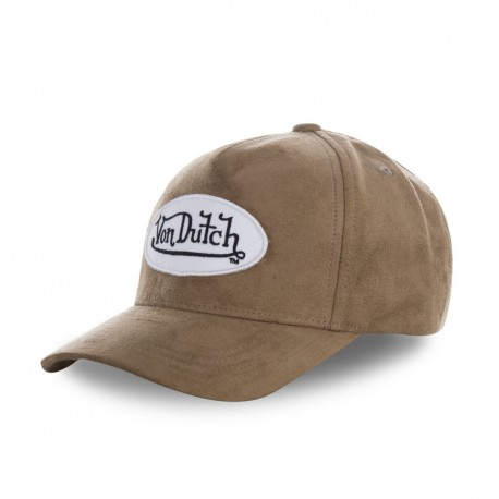 Casquette baseball Von Dutch filet Suede Beige