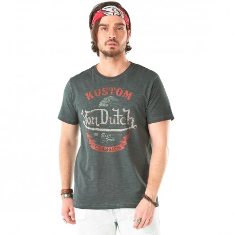 T-shirt homme Von Dutch Corey Anthracite