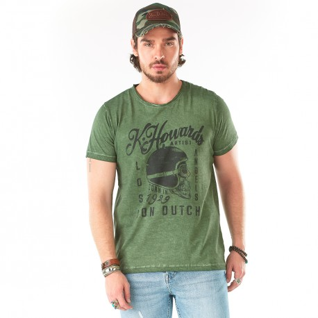 T-shirt homme Von Dutch Cortez Kaki
