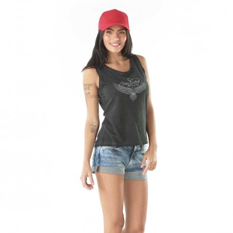 Débardeur femme Von Dutch Candy Anthracite