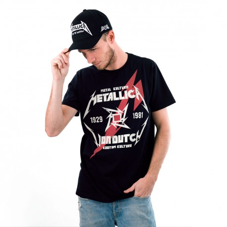 T-shirt homme Von Dutch Collection Metallica Modèle Black