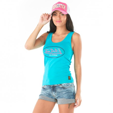 Women's Von Dutch Turqoise Evy Tank Top