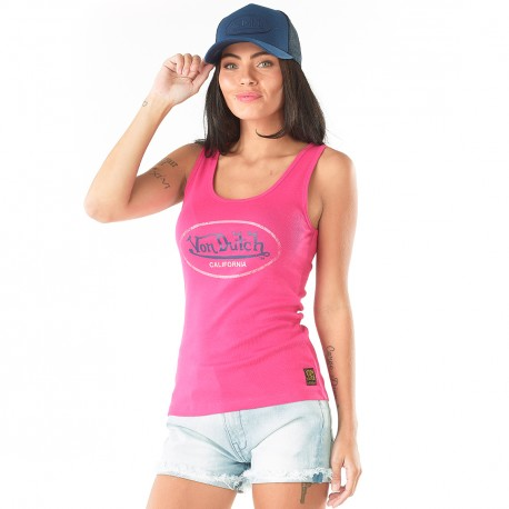 Women's Von Dutch Fuchsia Evy Tank Top
