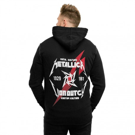 Men's zippered sweatshirt Von Dutch Metallica Model Black