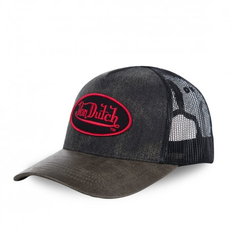 Casquette baseball filet Von Dutch Rob Gris