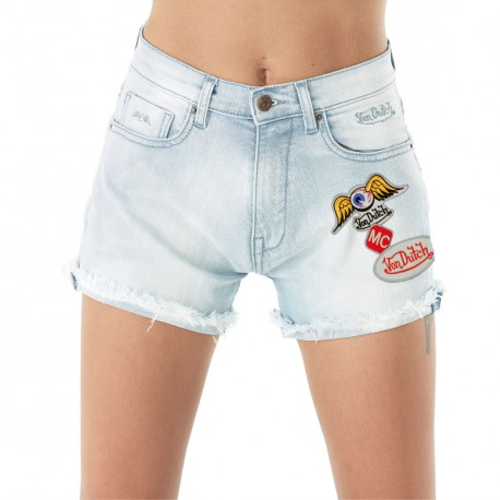 Short Femme Von Dutch Lisa Denim Bleach