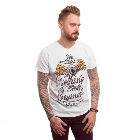 T-shirt homme Von Dutch Eyes Blanc