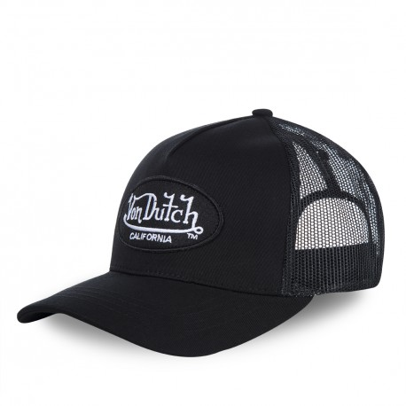 Casquette baseball Von Dutch Lofb California filet Noir