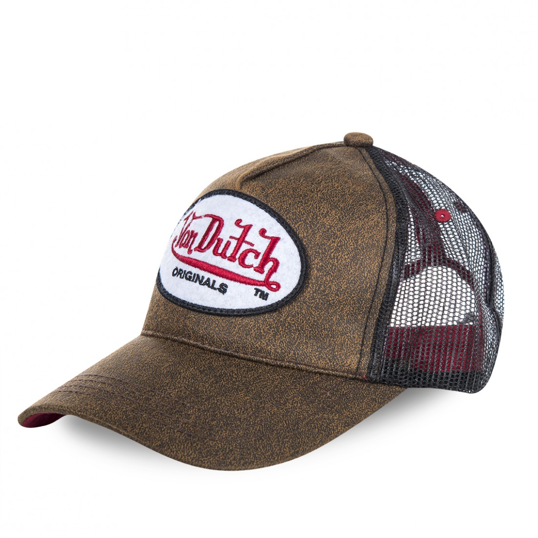 Casquette baseball homme Von Dutch Originals filet Marron