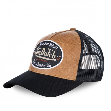 Casquette baseball filet Von Dutch Grl Marron