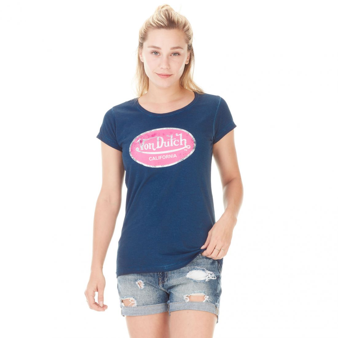 T-shirt Von Dutch femme Aarona Navy Used