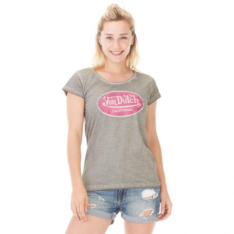 T-shirt Von Dutch femme Aarona Gris Used
