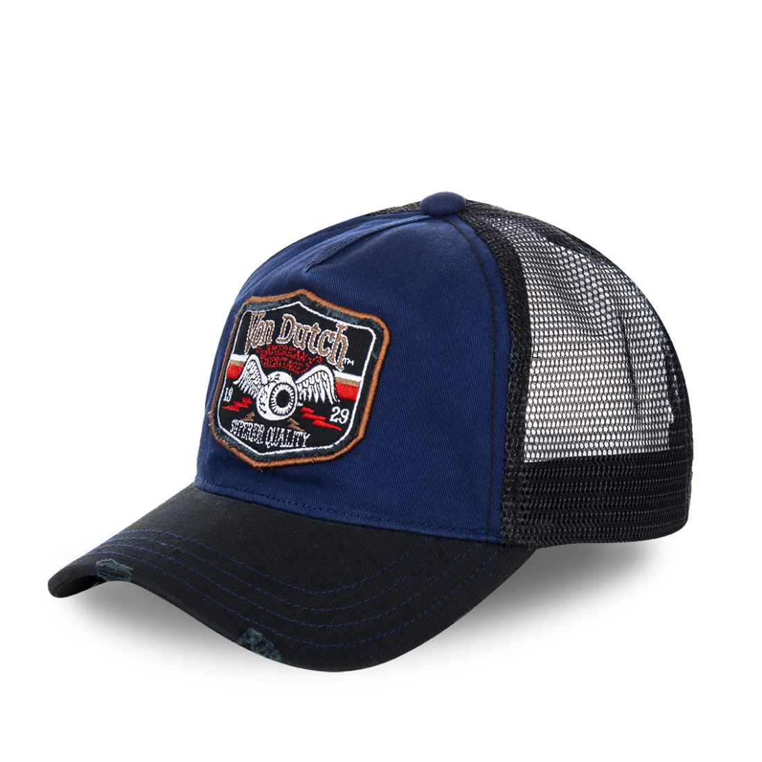 Casquette Trucker Homme Von Dutch Flying Eye Bleu