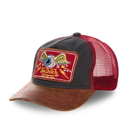 Casquette Trucker Homme Von Dutch Flying Eye Bordeaux