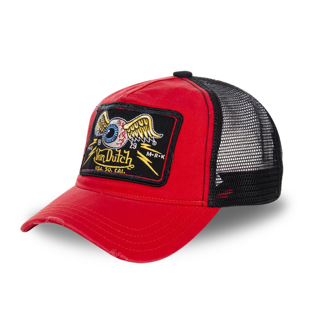 Casquette Trucker Homme Von Dutch Flying Eye Rouge