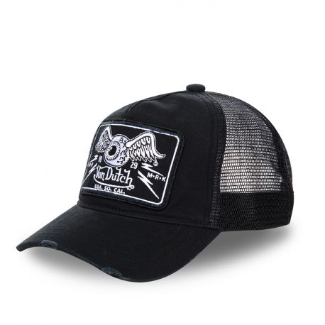 Casquette Trucker Homme Von Dutch Flying Eye Noir
