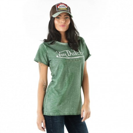 Von Dutch women's green Queen t-shirt