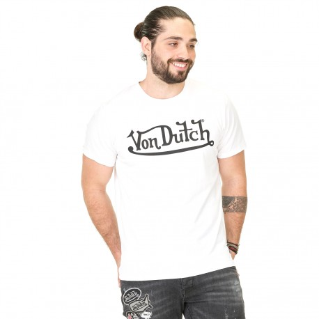 Von Dutch men's white Best t-shirt with black printing